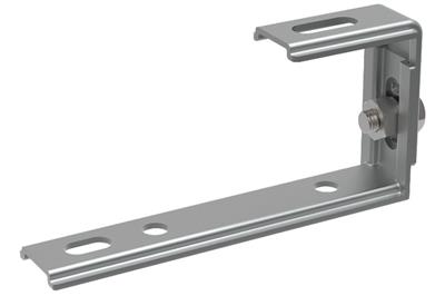 Adjustable C type bracket for fastening on concrete