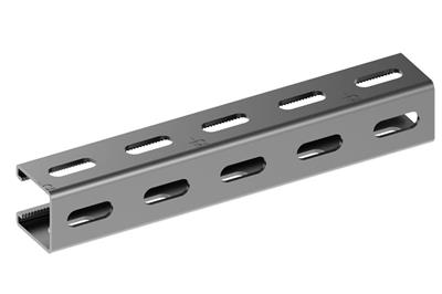 Steel channels - slots on 3 sides