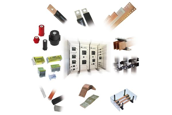 Components for low voltage panel boards